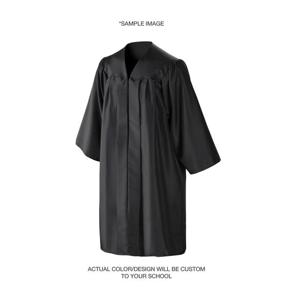 School Required Cap & Gown Unit with Custom Class Stole