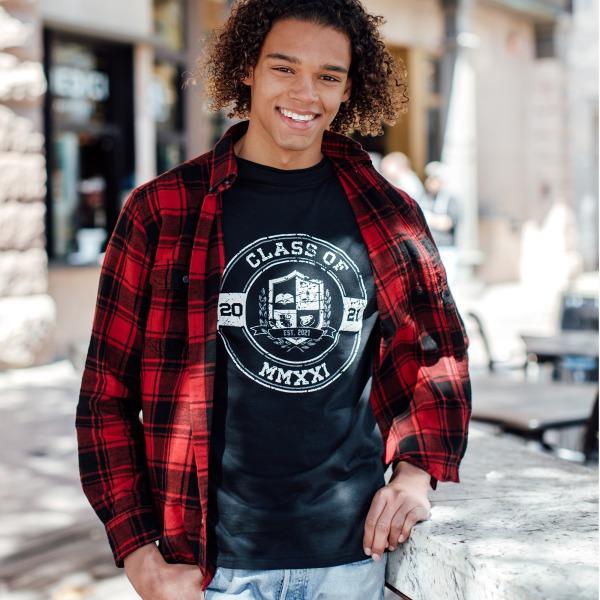 Black Senior T - Shirt