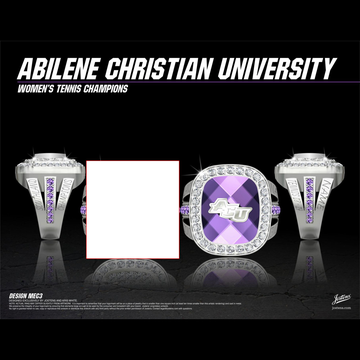 Abilene Christian University Women's Tennis 2019 Southland Championship Ring