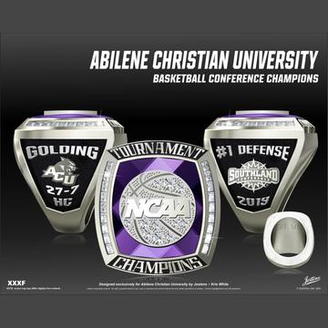 Abilene Christian University Men's Basketball 2019 Southland Championship Ring
