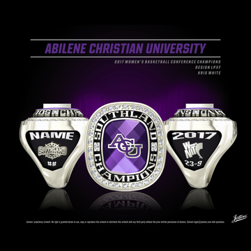 Abilene Christian University Women's Basketball 2017 Southland Championship Ring