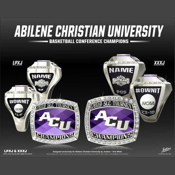 Abilene Christian University Women's Basketball 2019 Southland Championship Ring