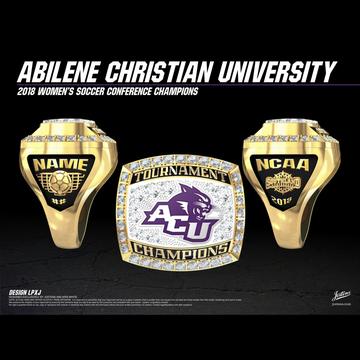 Abilene Christian University Women's Soccer 2018 Southland Championship Ring