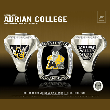 Adrian College Coed Bowling 2016 National Championship Ring