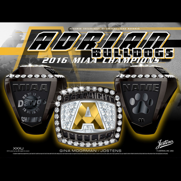 Adrian College Men's Baseball 2016 MIAA Championship Ring