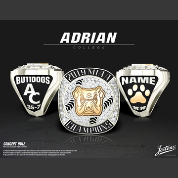 Adrian College Men's Baseball 2019 MIAA Championship Ring