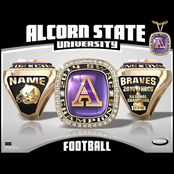 Alcorn State University Men's Football 2014 SWAC Championship Ring