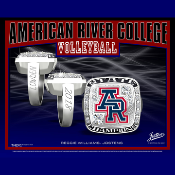 American River College Women's Volleyball 2018 CCCAA State Championship Ring
