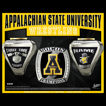Appalachian State University Men's Wrestling 2018 SoCon Championship Ring