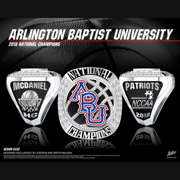 Arlington Baptist University Men's Basketball 2018 National Championship Ring