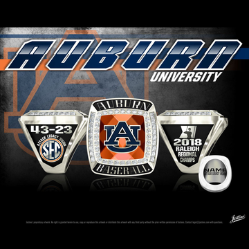 Auburn University Men's Baseball 2018 Regional Championship Ring