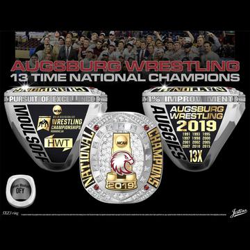 Augsburg University Men's Wrestling 2019 National Championship Ring