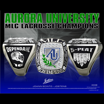 Aurora Univeristy Men's Lacrosse 2017 MLC Championship Ring