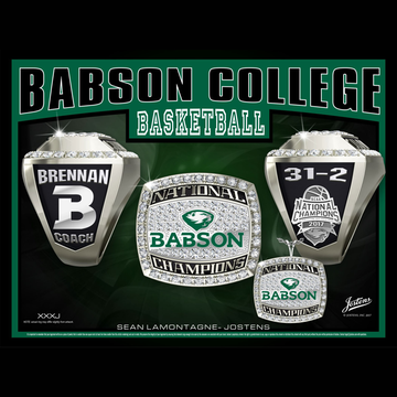 Babson College Men's Basketball 2017 National Championship Ring