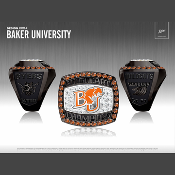Baker University Men's Track & Field 2016 Heart of America Championship Ring
