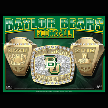 Baylor University Men's Football 2016 Cactus Bowl Championship Ring