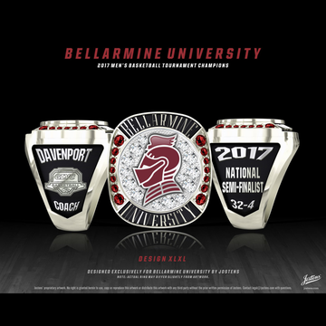 Bellarmine University Men's Basketball 2017 GLVC Championship Ring