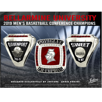 Bellarmine University Men's Basketball 2019 GLVC Championship Ring