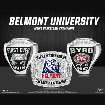 Belmont University Men's Basketball 2019 OVC Championship Ring