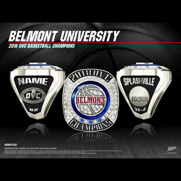 Belmont University Women's Basketball 2018 OVC Championship Ring