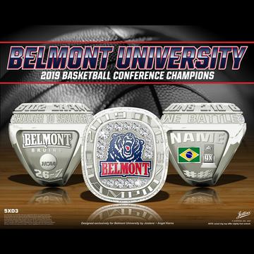 Belmont University Women's Basketball 2019 OVC Championship Ring