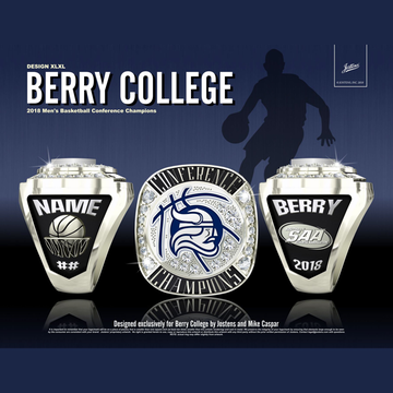 Berry College Men's Basketball 2018 SAA Championship Ring