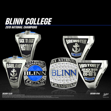 Blinn College Coed Cheer 2019 National Championship Ring