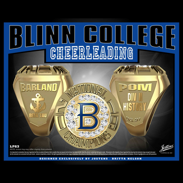 Blinn College Women's Dance 2019 National Championship Ring