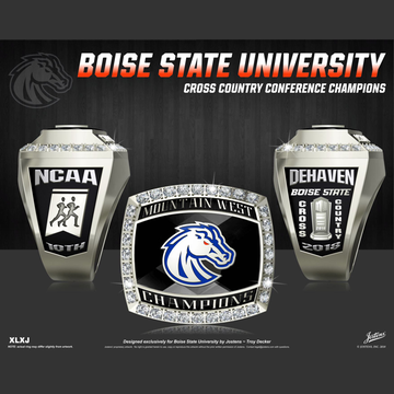 Boise State University Men's Cross Country 2018 Mountain West Championship Ring