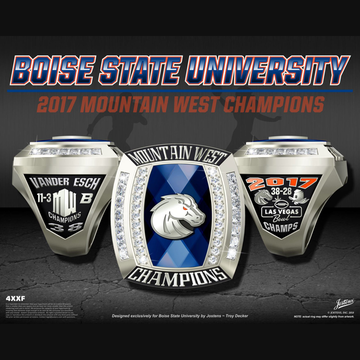 Boise State University Men's Football 2017 Mountain West Championship Ring