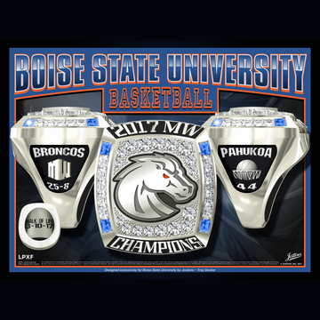 Boise State University Women's Basketball 2017 Mountain West Championship Ring