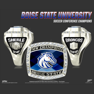 Boise State University Women's Soccer 2018 Mountain West Championship Ring