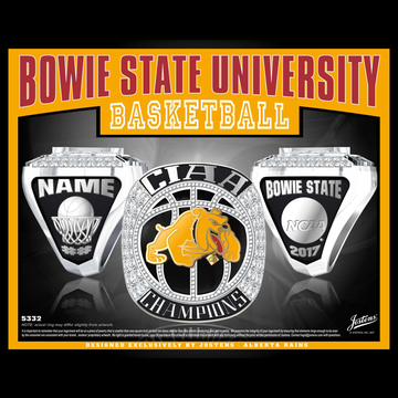 Bowie State University Men's Basketball 2017 CIAA Championship Ring