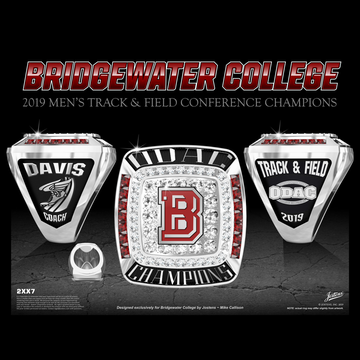 Bridgewater College Men's Track & Field 2019 ODAC Championship Ring