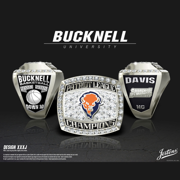 Bucknell University Men's Basketball 2018 Patriot League Championship Ring