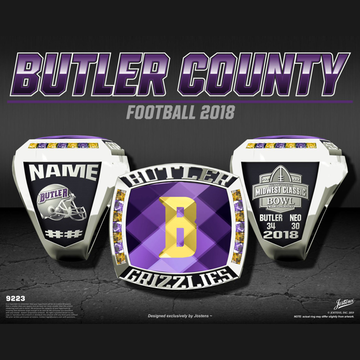 Butler County Community College Men's Football 2018 Midwest Classic Bowl Championship Ring