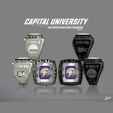 Capital University Men's Soccer 2018 OAC Championship Ring