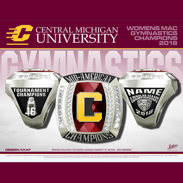 Central Michigan University Women's Gymnastics 2018 MAC Championship Ring