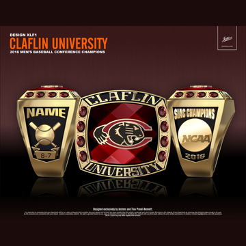 Claflin University Men's Baseball 2016 SIAC Championship Ring