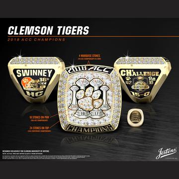 Clemson University Men's Football 2018 ACC Championship Ring
