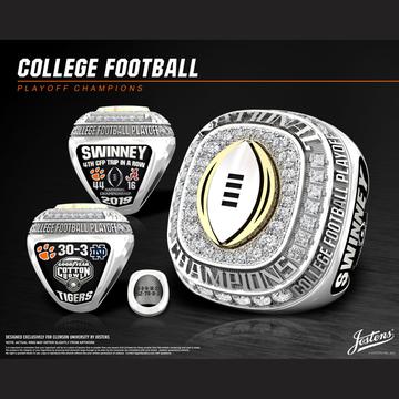 Clemson University Men's Football 2018 CFP Championship Ring