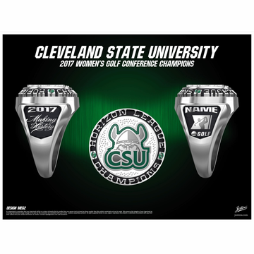 Cleveland State University Women's Golf 2017 Horizon League Championship Ring