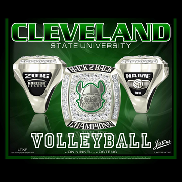 Cleveland State University Women's Volleyball 2016 Horizon League Championship Ring