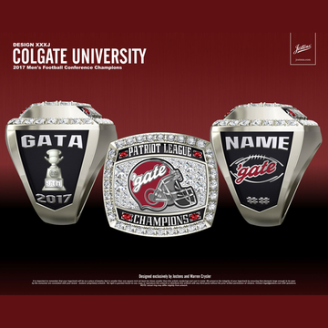 Colgate University Men's Football 2017 Patriot League Championship Ring