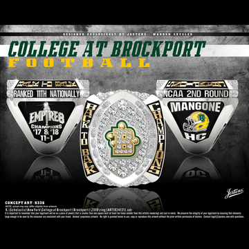 College at Brockport Men's Football 2018 Empire 8 Championship Ring