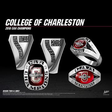 College of Charleston Women's Golf 2018 CAA Championship Ring