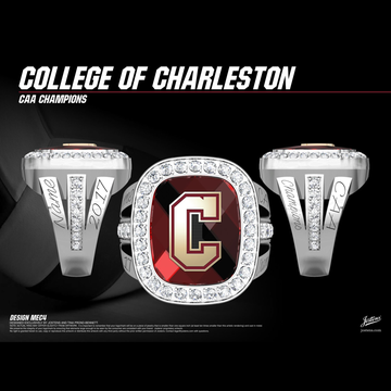 College of Charleston Women's Volleyball 2017 CAA Championship Ring