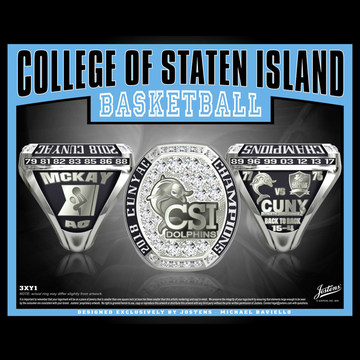 College of Staten Island Men's Basketball 2018 CUNYAC Championship Ring