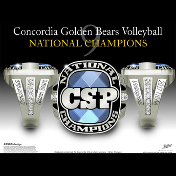 Concordia University, St. Paul Women's Volleyball 2017 National Championship Ring