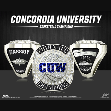 Concordia University Wisconsin Men's Basketball 2019 NACC Championship Ring